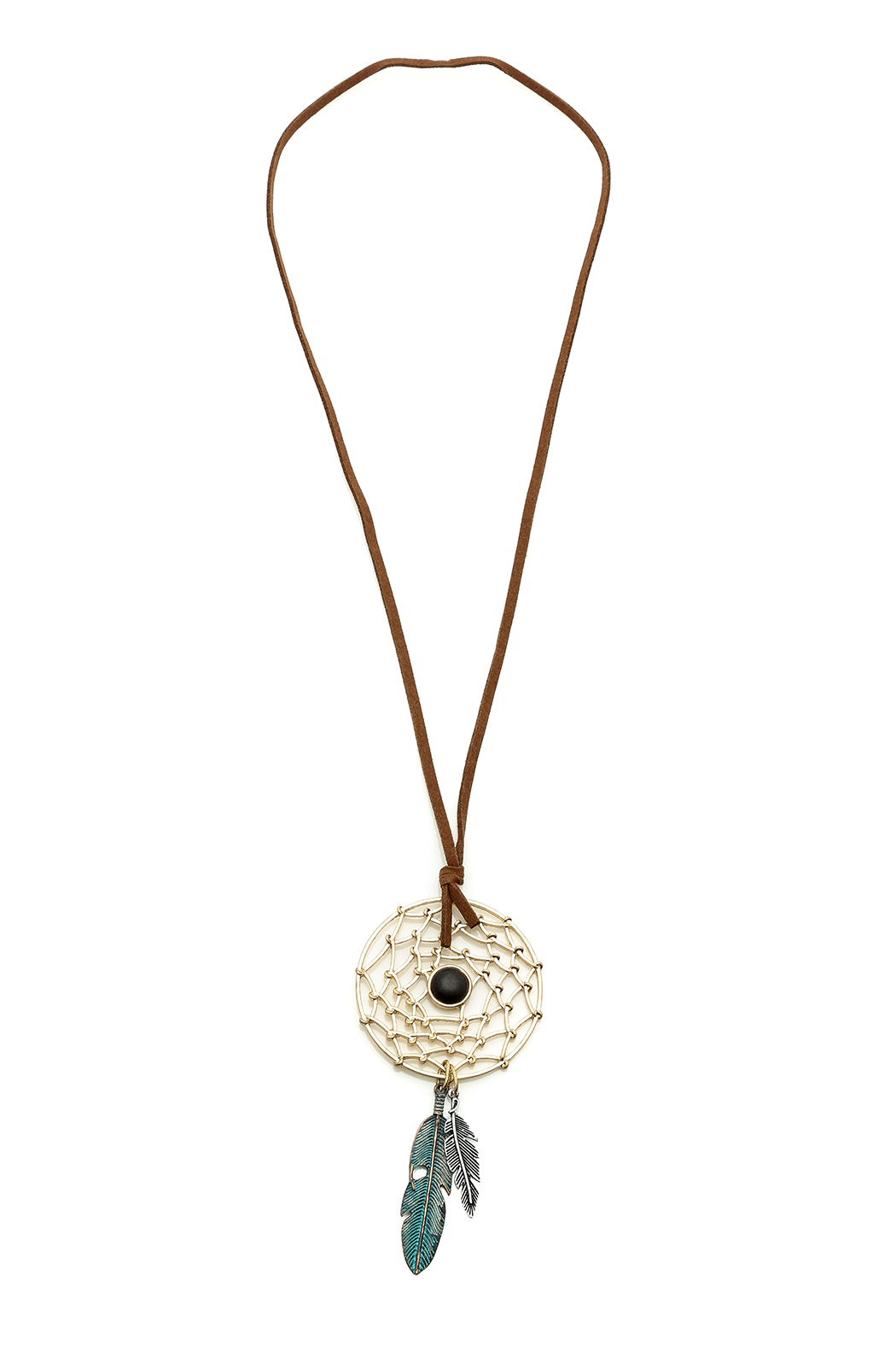 Dream Catcher Necklace - Front Cropped Image
