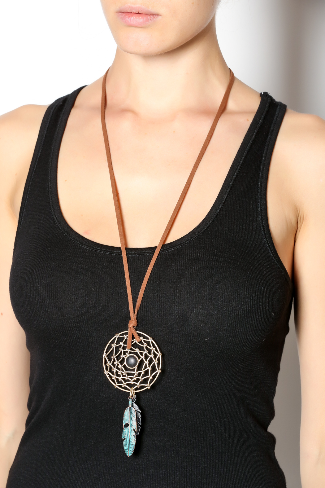 Dream Catcher Necklace - Back Cropped Image
