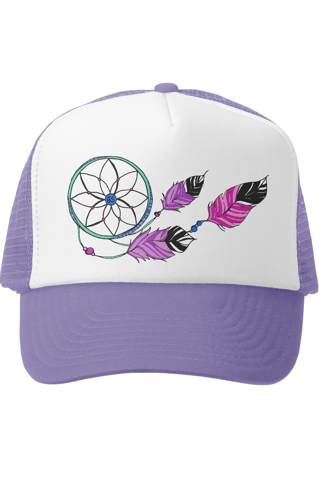 Grom Squad Dream Catcher Trucker Hat - Front Cropped Image