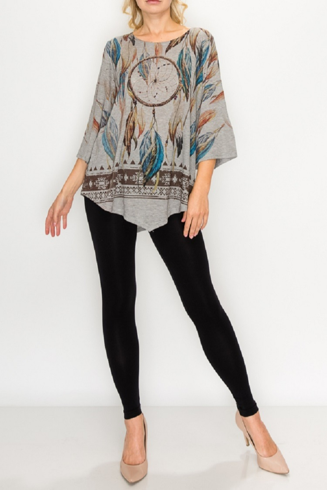 Origami Dream Catcher Tunic - Front Cropped Image