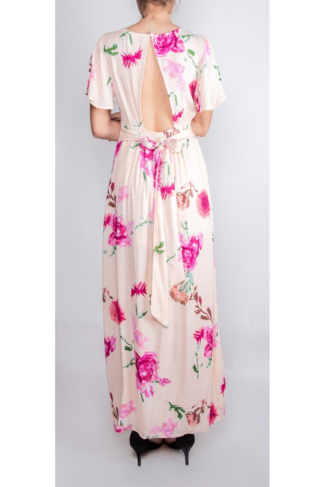 Illa Illa Dream Floral Romper-Dress - Back Cropped Image