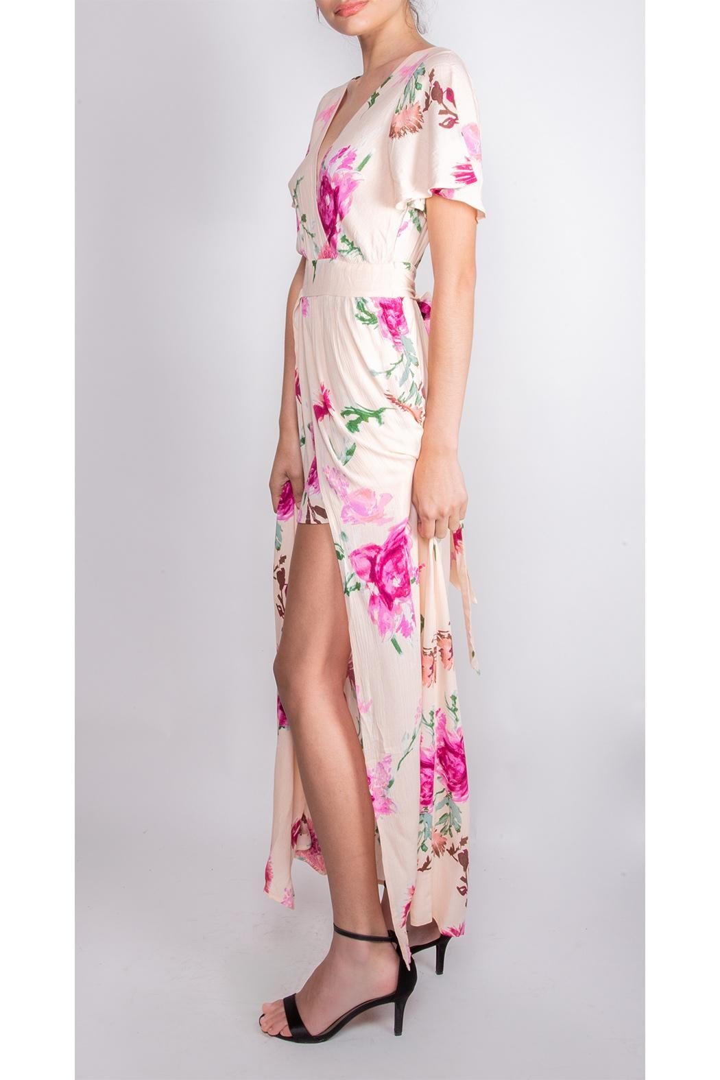 Illa Illa Dream Floral Romper-Dress - Side Cropped Image
