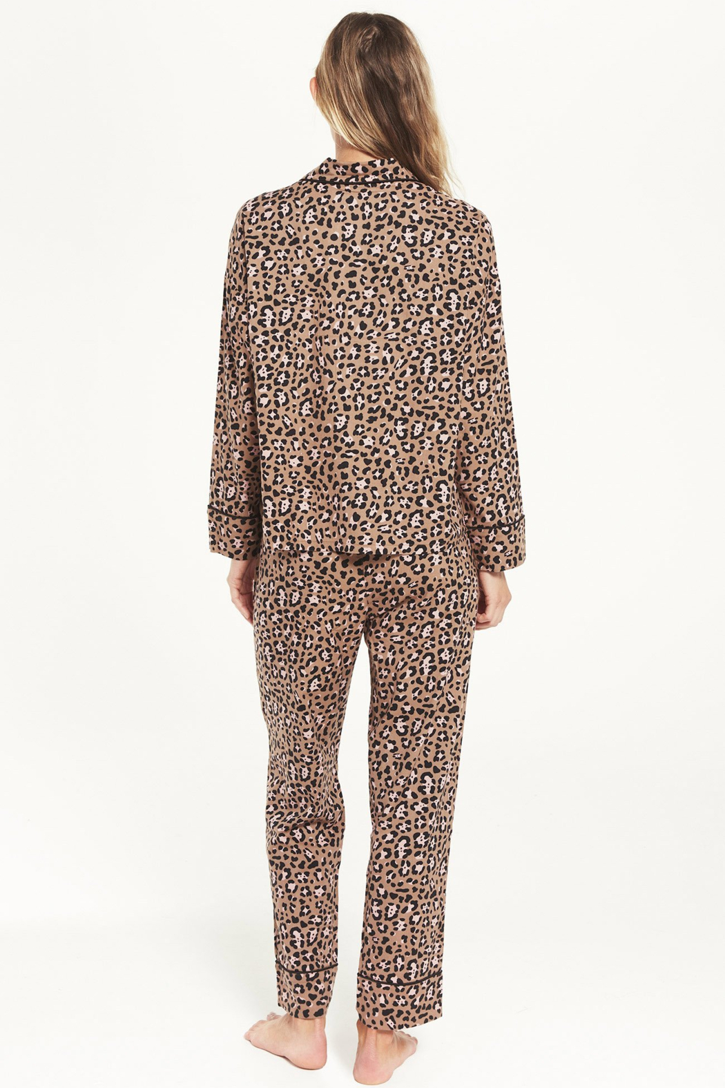 z supply DREAM STATE LEOPARD PJ SET - Front Full Image
