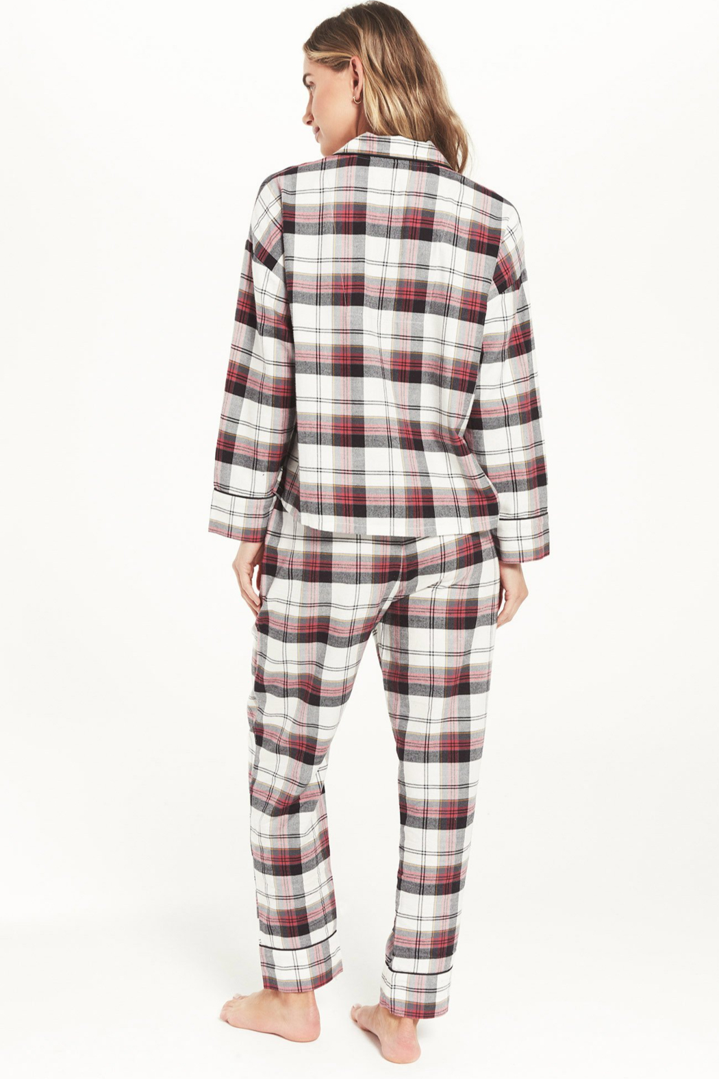 z supply Dream State Plaid PJ Set - Back Cropped Image