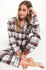 z supply Dream State Plaid PJ Set - Front cropped