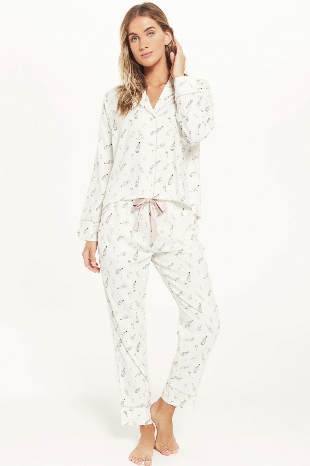 z supply Dream State Vino PJ Set - Front Full Image