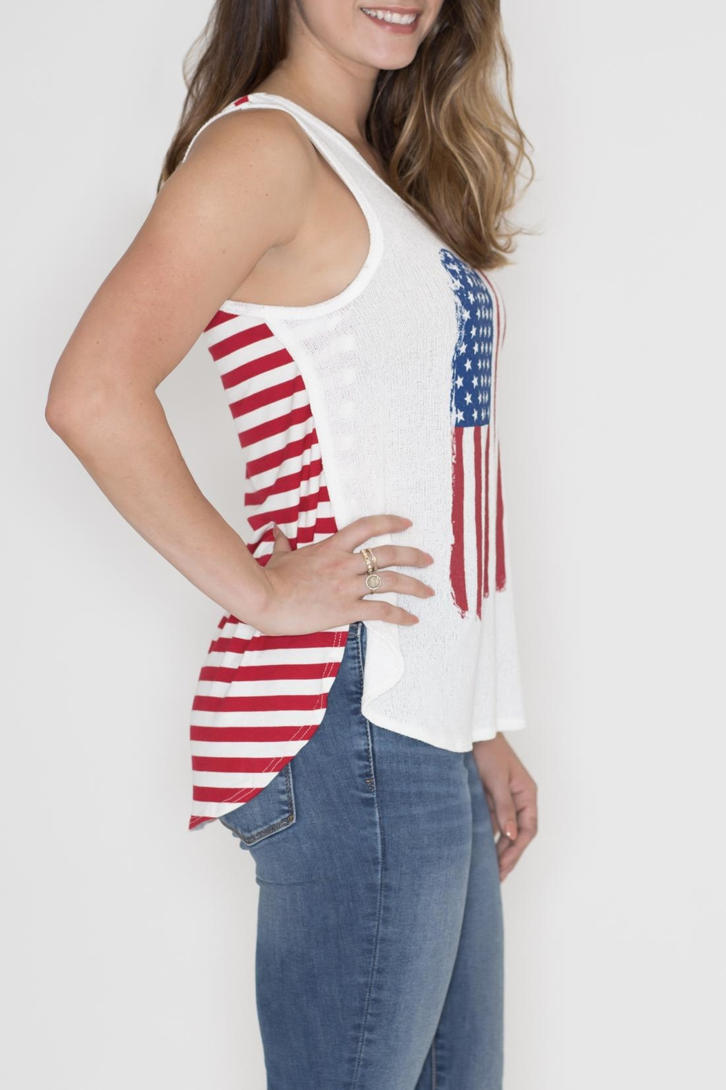Dream Style American Flag Tank - Front Full Image