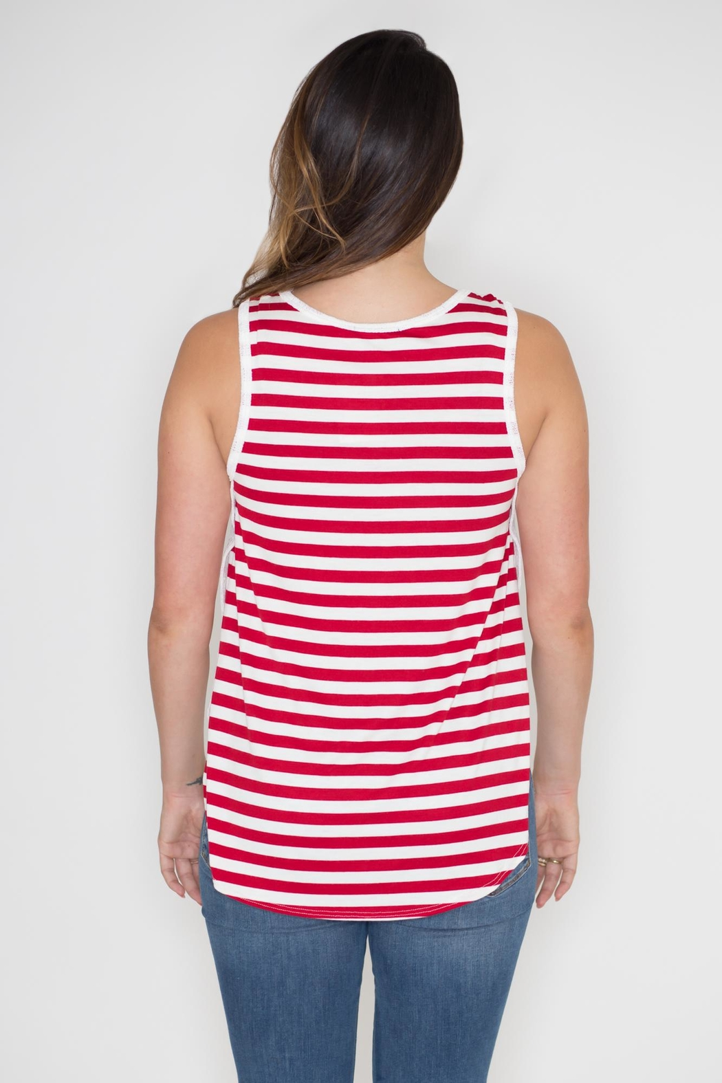 Dream Style American Flag Tank - Side Cropped Image