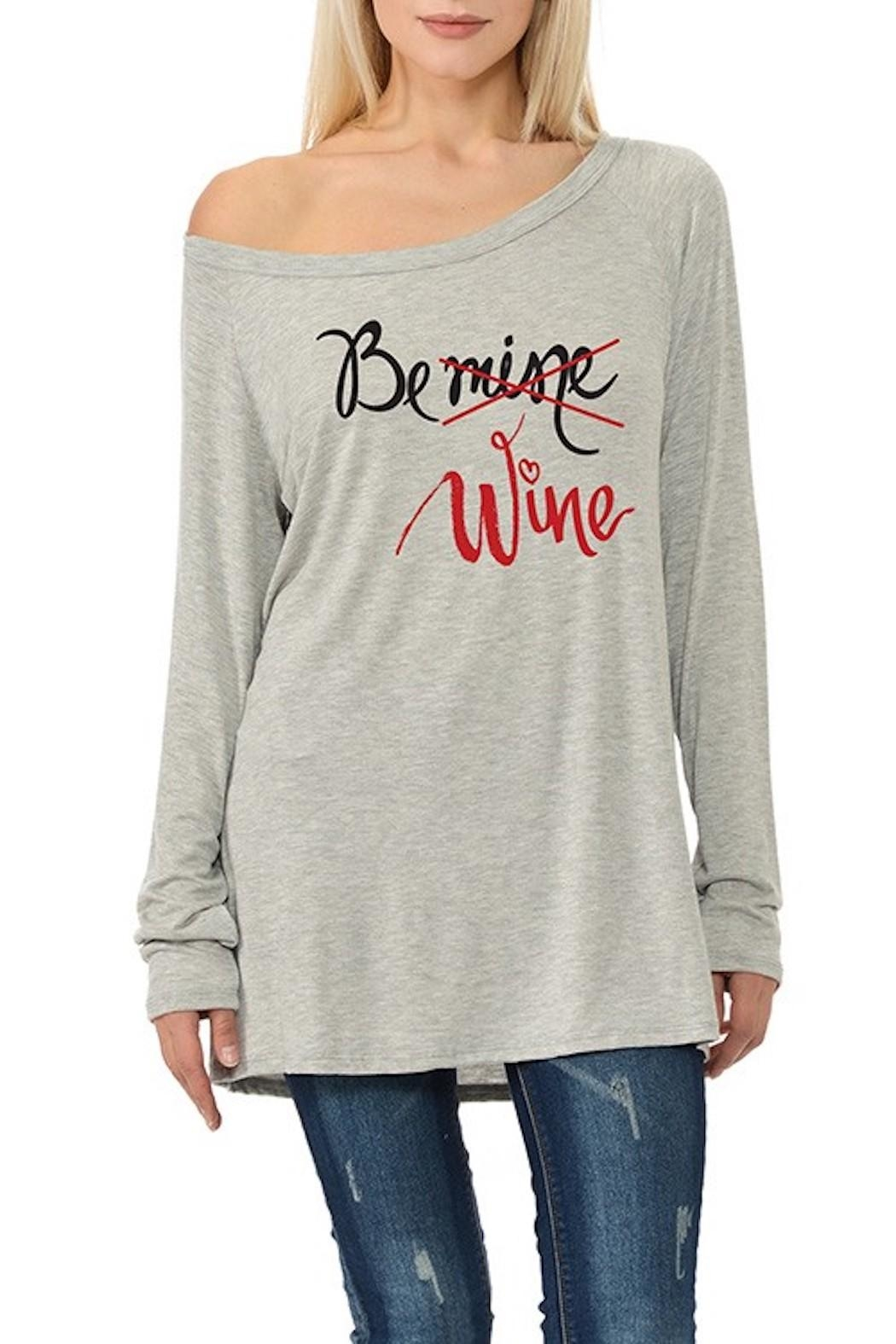 Dream Style Be-Mine-Be-Wine Valentines Top - Main Image