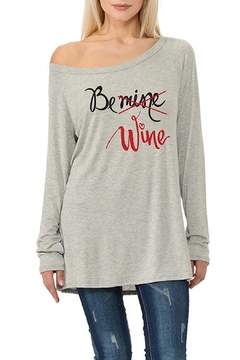 Shoptiques Product: Be-Mine-Be-Wine Valentines Top