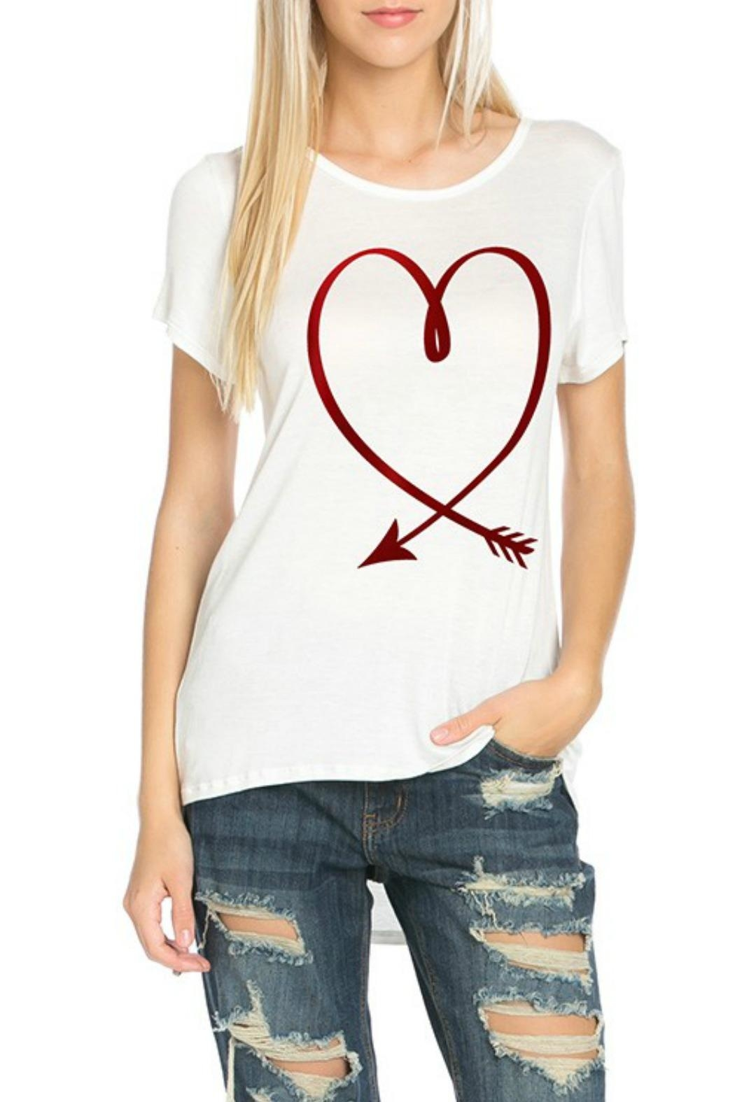 Dream Style Heart Arrow Tee - Front Cropped Image