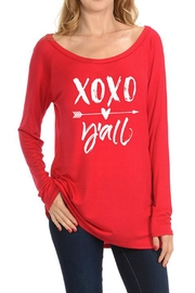Dream Style Xoxo Y'all Top - Front cropped