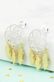 Pink Poodle Boutique Dreamcatcher Earrings - Front cropped