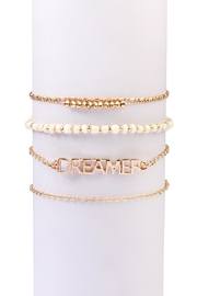 Riah Fashion 'Dreamer' Delicate-Goldtone-Bracelet-Set - Product Mini Image