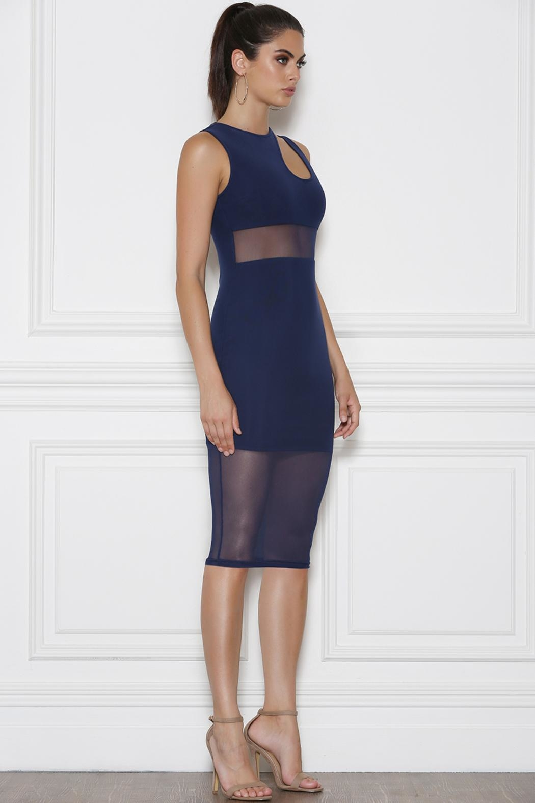 Runaway The Label Dreamer Midi Dress - Front Cropped Image