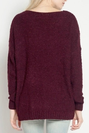 Dreamers Burgundy Marled Sweater - Front full body