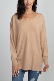 Dreamers Camel Tunic Sweater - Product Mini Image