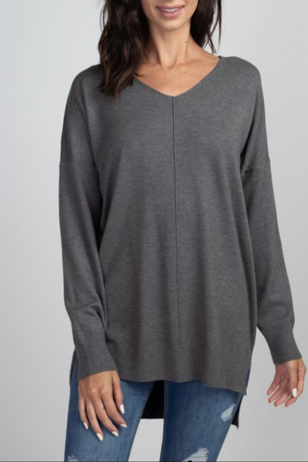 Dreamers Charcoal Soft Sweater - Main Image