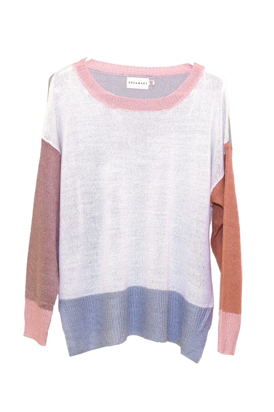 Dreamers Color-Block Knit Sweater - Main Image