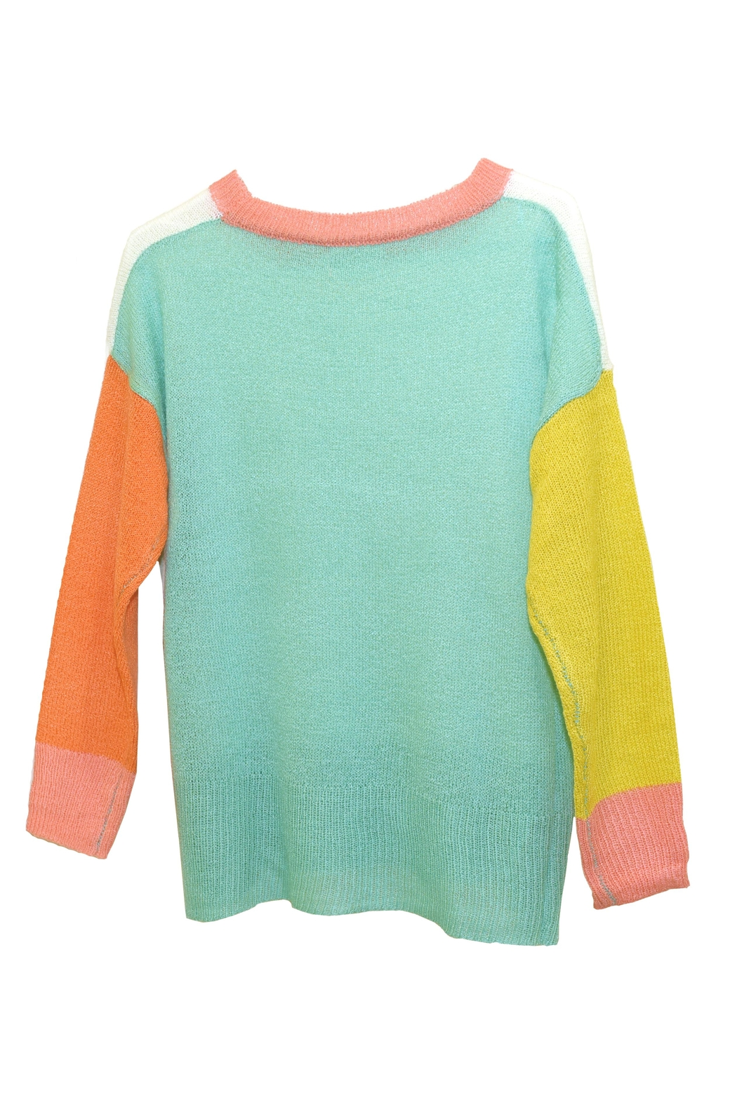 Dreamers Color-Block Knit Sweater - Front Full Image