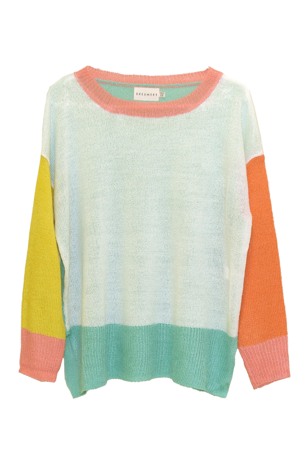 Dreamers Color-Block Knit Sweater - Front Cropped Image