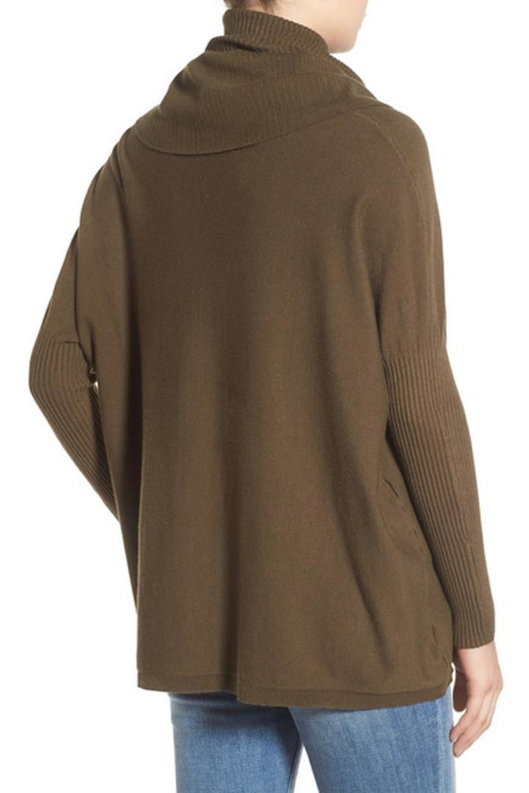 Dreamers Cowl Neck Pullover Top - Front Full Image