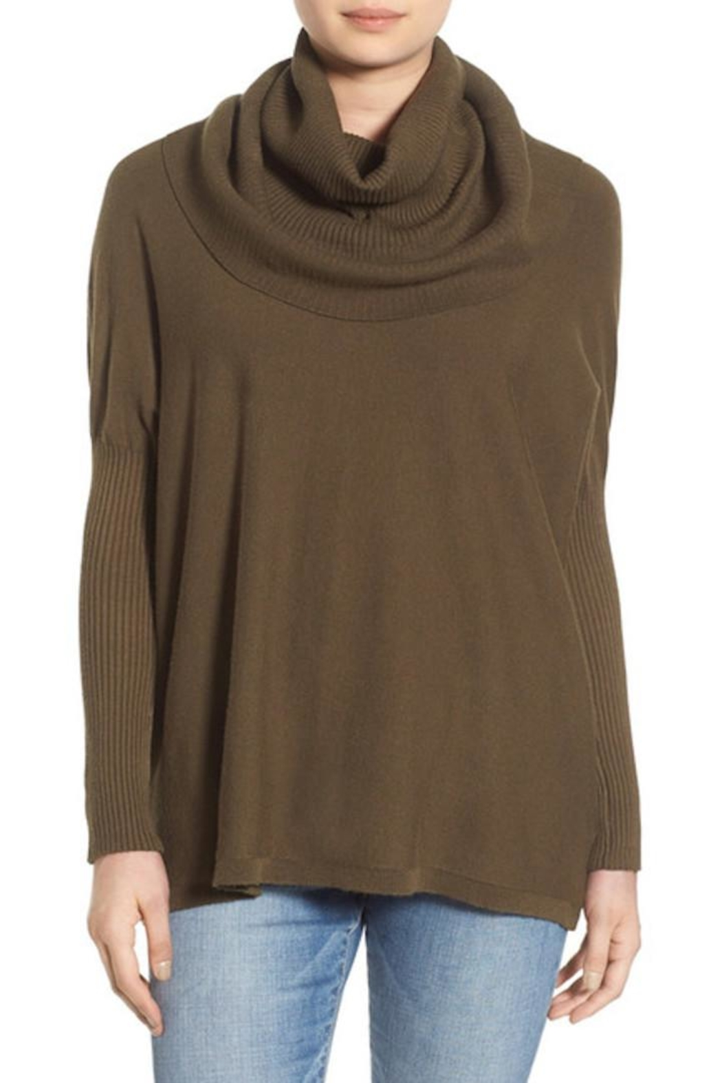 Dreamers Cowl Neck Pullover Top - Main Image