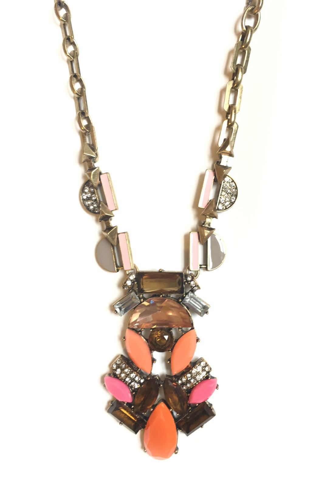 Dreamers Deco Statement Necklace - Front Cropped Image