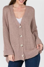 Dreamers Dolly Cuffed Cardigan - Front cropped