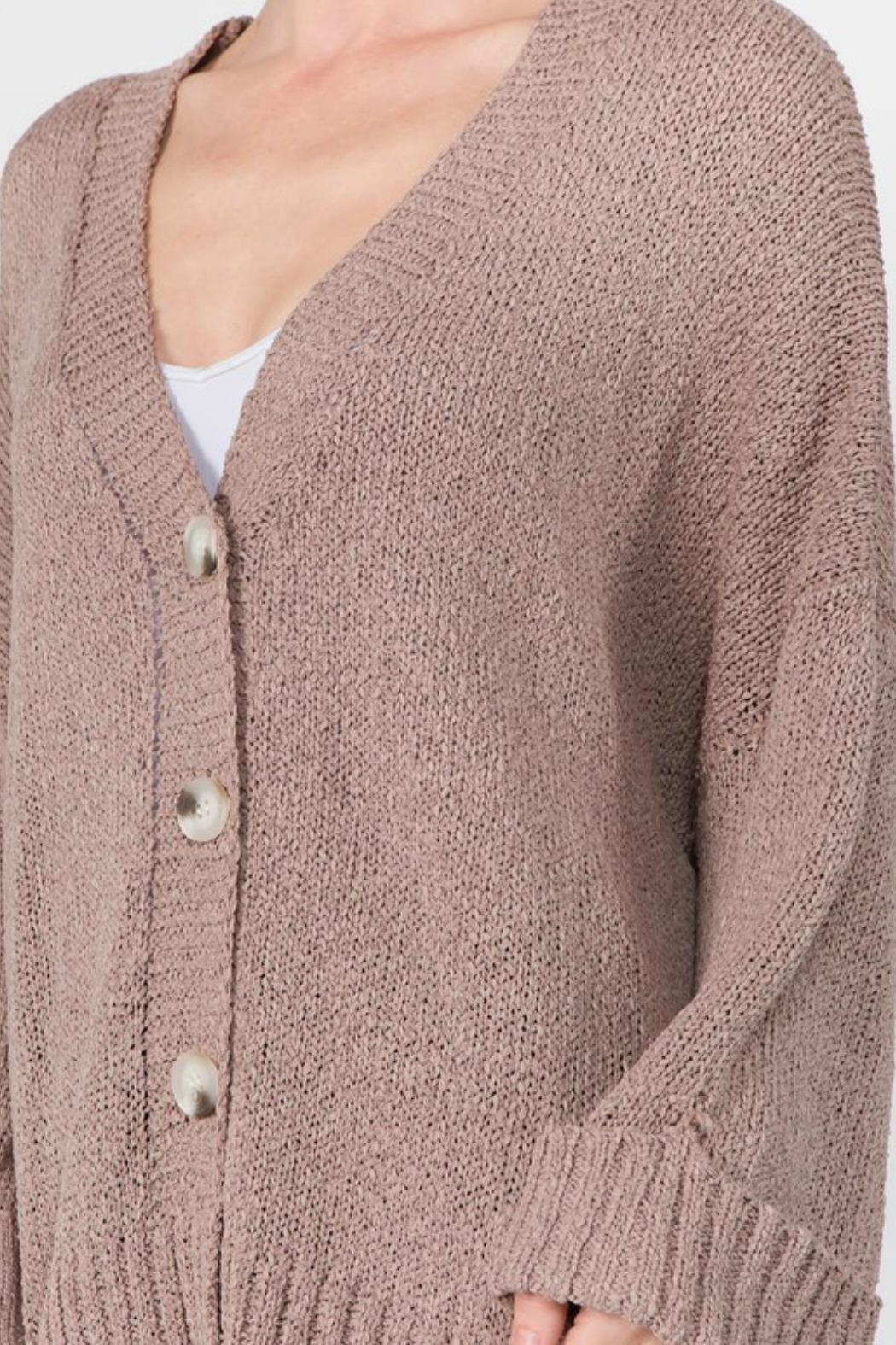 Dreamers Dolly Cuffed Cardigan - Front Full Image