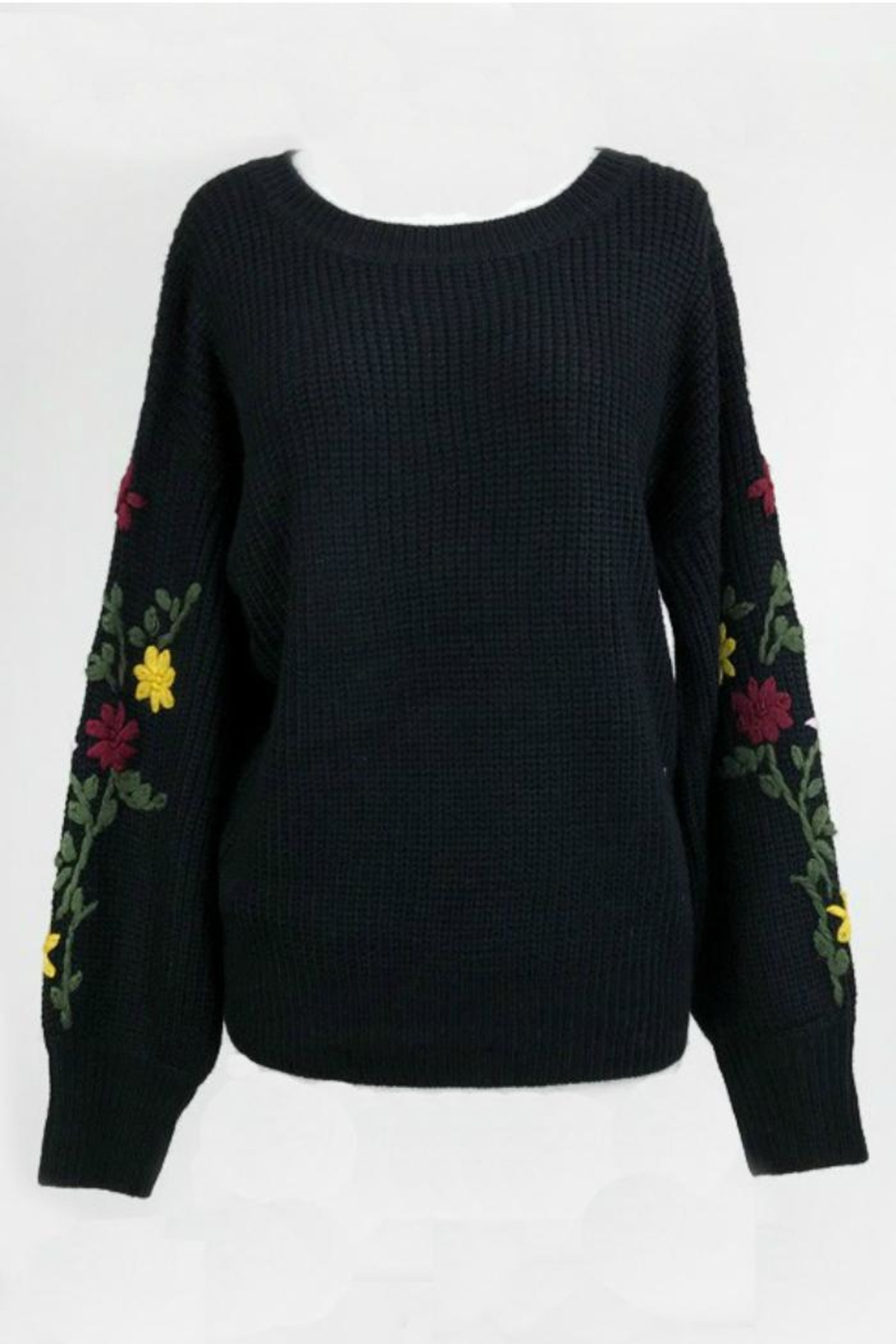 3abb6fc167f Dreamers Embroidered Black Sweater from California by Apricot Lane ...