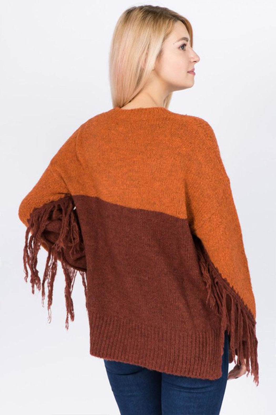 Dreamers Fringe Pullover Sweater - Front Full Image