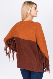 Dreamers Fringe Pullover Sweater - Front full body