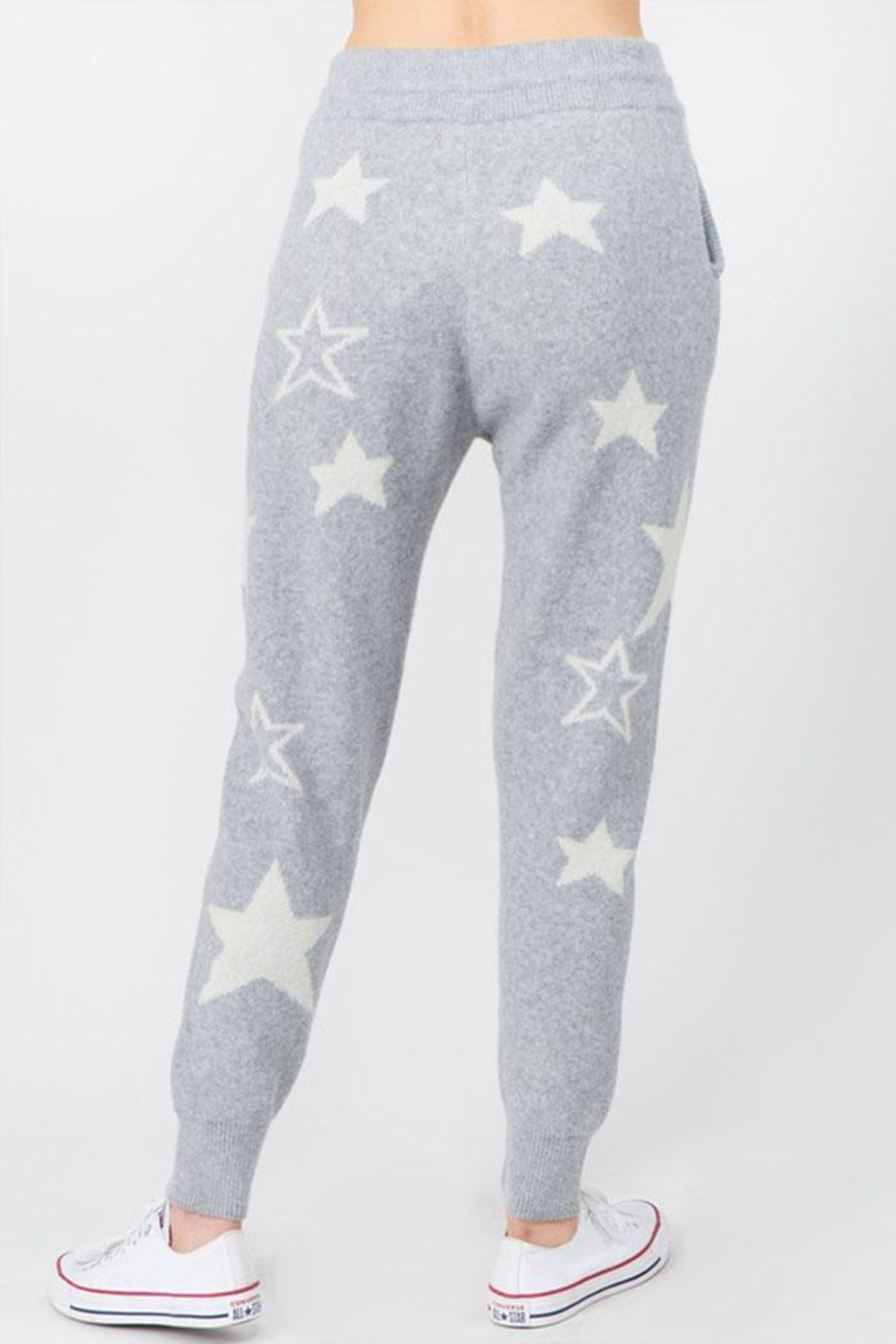 Dreamers Fuzzy Star Pants - Side Cropped Image