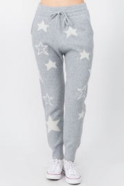 Dreamers Fuzzy Star Pants - Front cropped