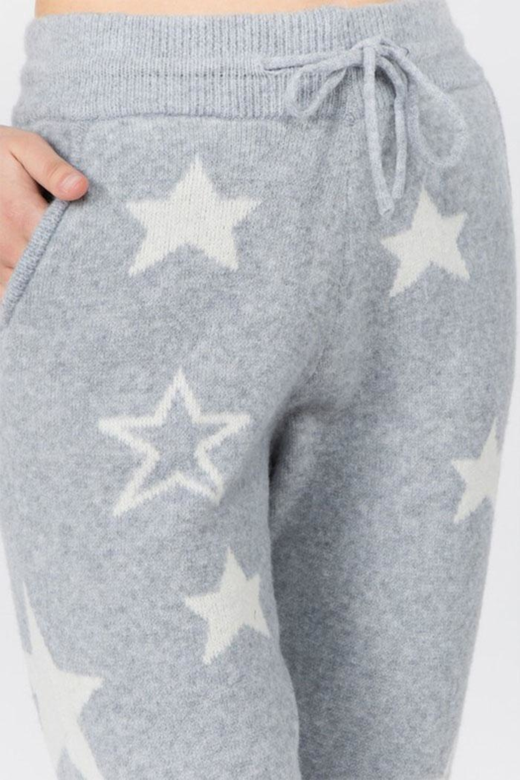 Dreamers Fuzzy Star Pants - Front Full Image