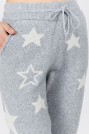Dreamers Fuzzy Star Pants - Front full body