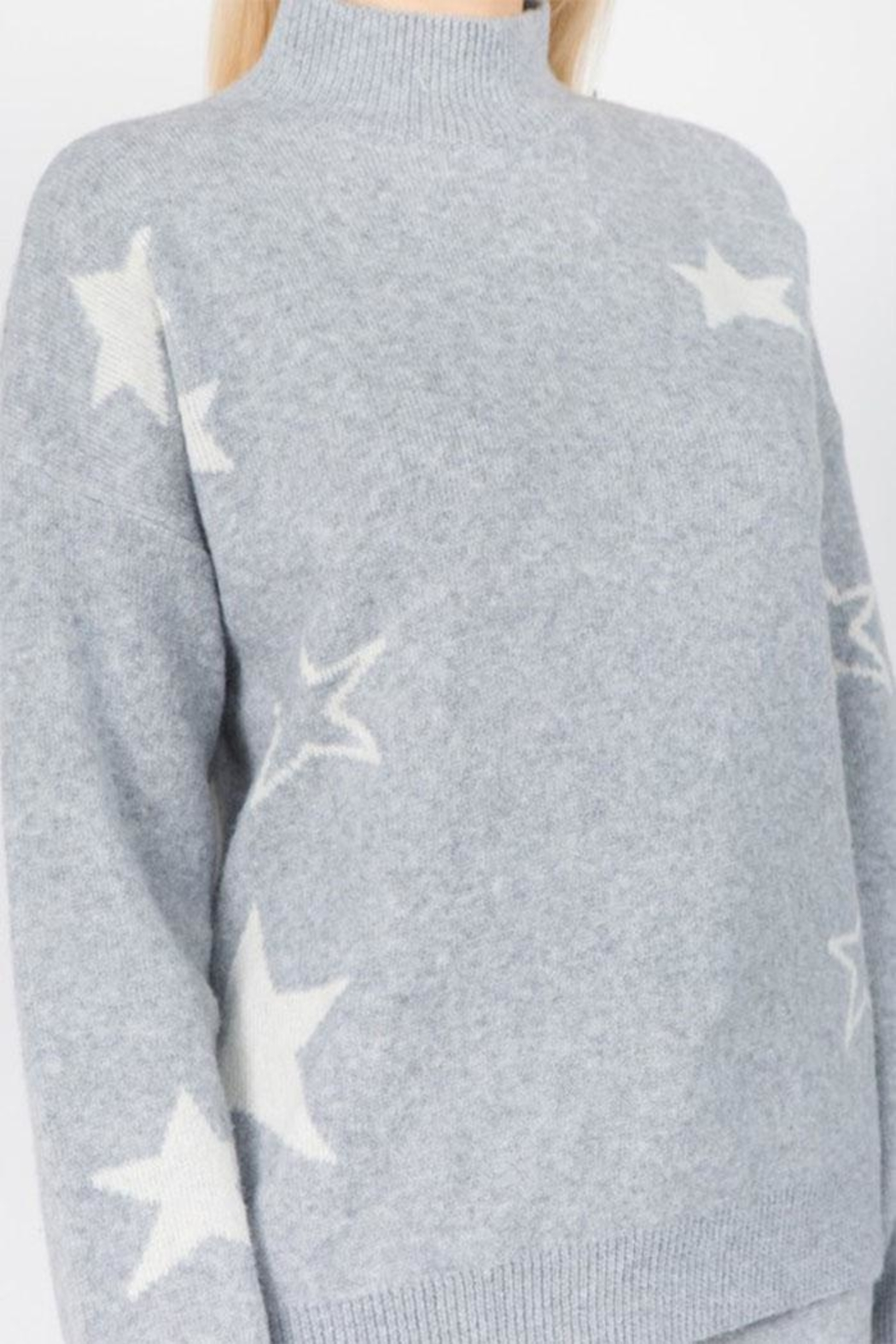 Dreamers Fuzzy Star Sweater - Front Full Image