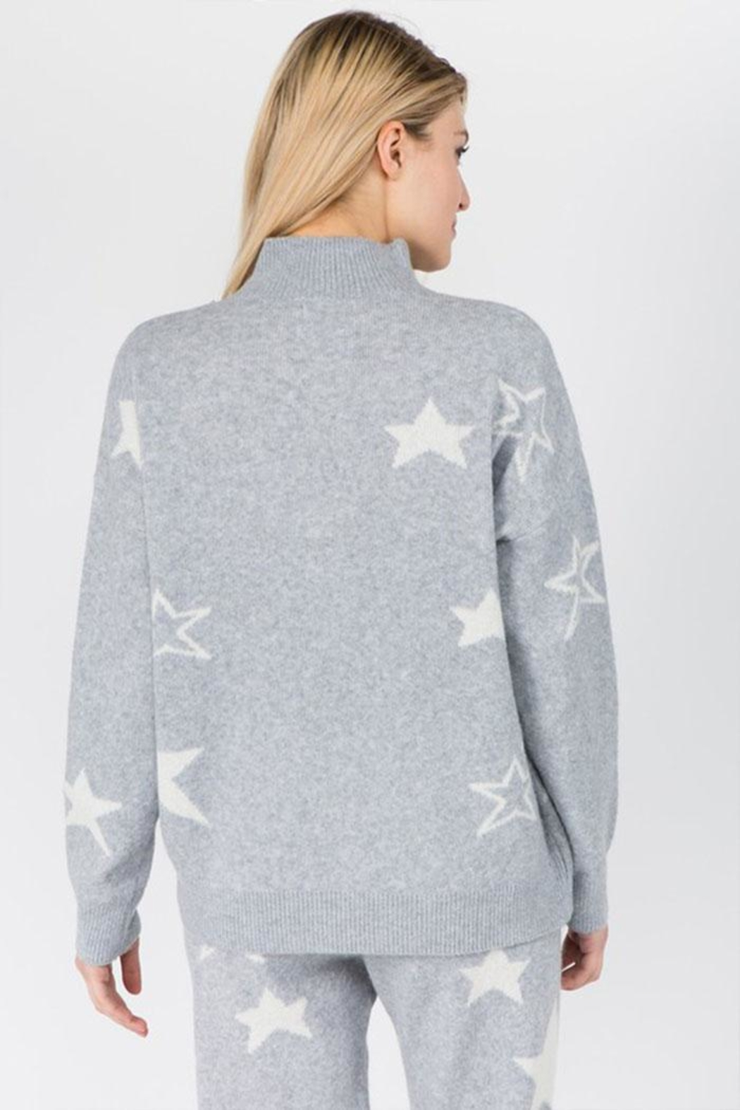 Dreamers Fuzzy Star Sweater - Side Cropped Image