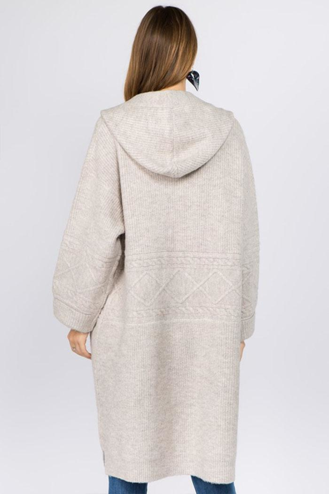 Dreamers Heavy Knit Cardigan - Front Full Image