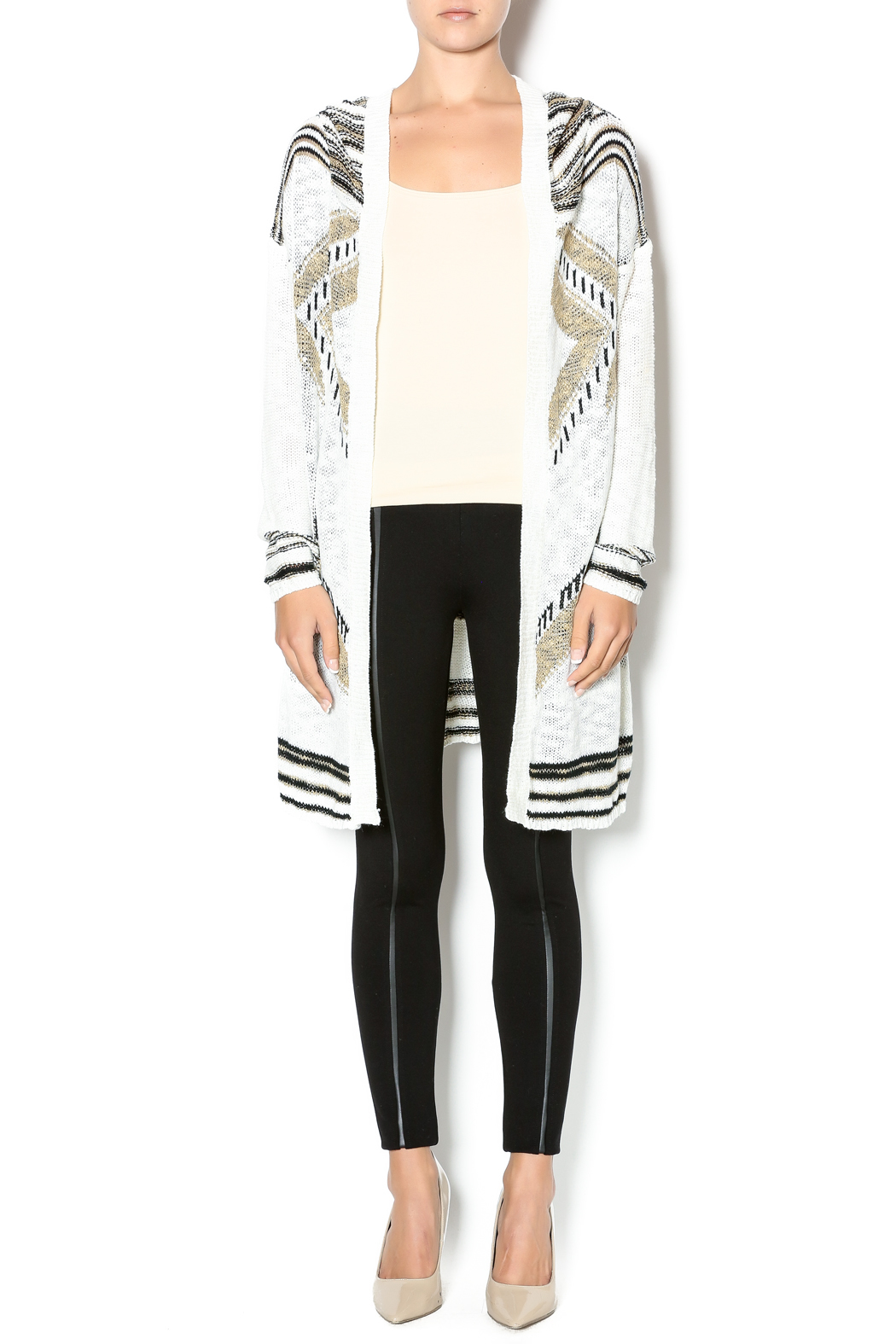 Hooded Fringe Cardigan — Shoptiques