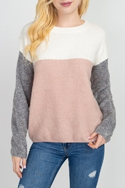Dreamers Knit Color-Block Sweater - Product Mini Image