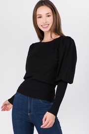 Dreamers Puff Shoulder Top - Front cropped