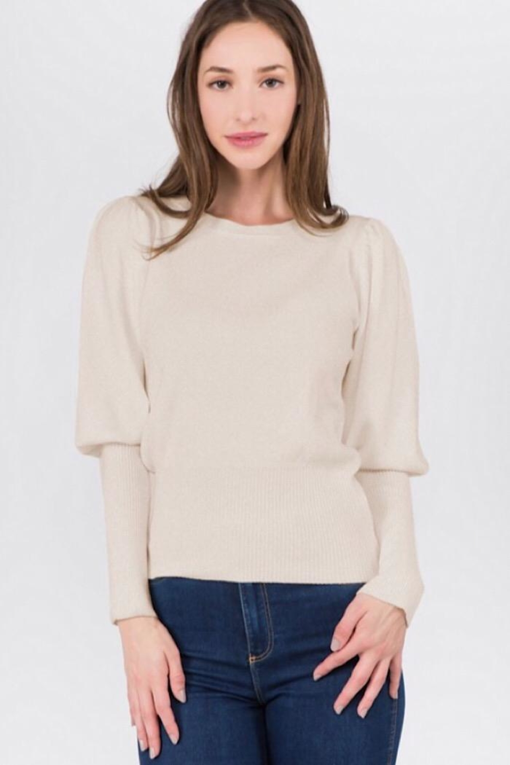 Dreamers Puff Shoulder Top - Front Cropped Image