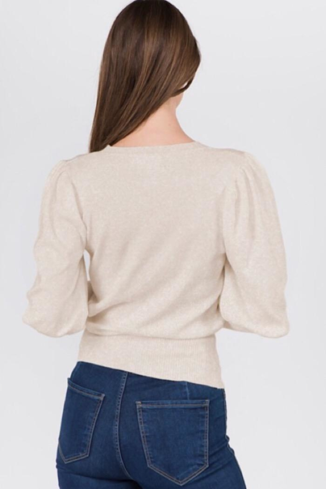 Dreamers Puff Shoulder Top - Front Full Image