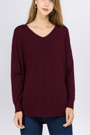 Dreamers Purple Tunic Sweater - Product Mini Image