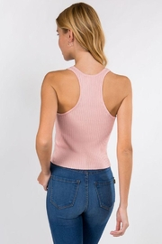 Dreamers Ribbed Tank Top - Back cropped
