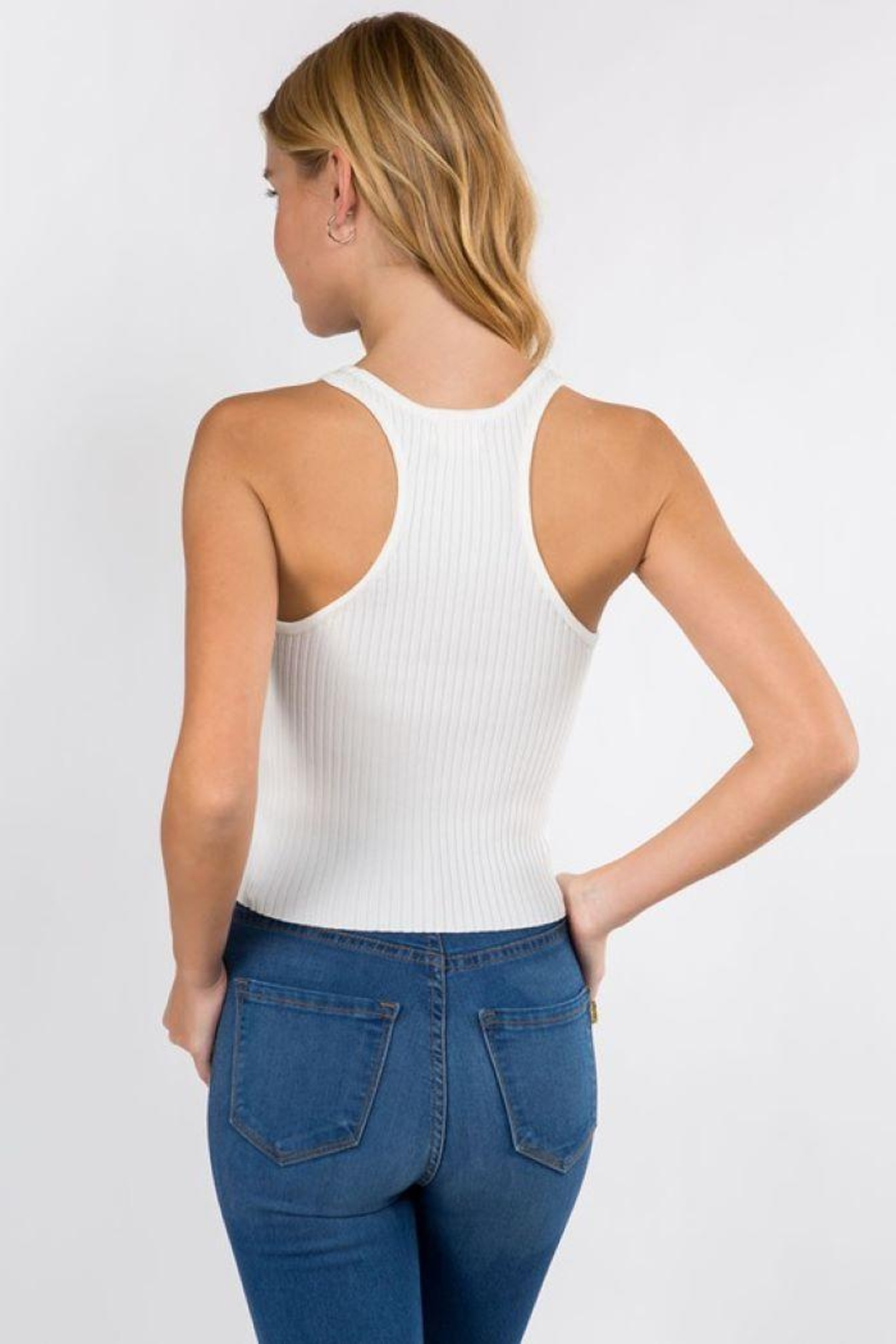 Dreamers Ribbed Tank Top - Side Cropped Image
