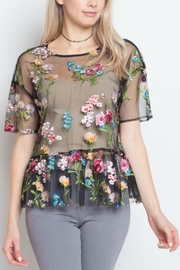 Dreamers Sheer Floral Top - Product Mini Image