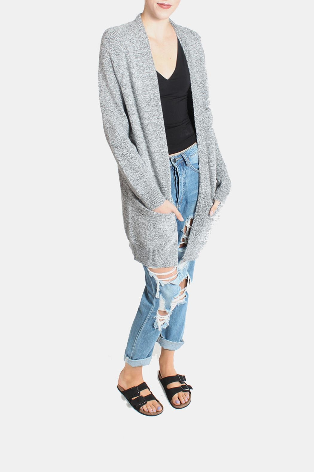 Dreamers Slouchy Heather Grey Cardigan from Los Angeles by ...